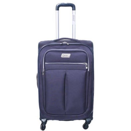 Coleman Lightweight Breeze Rolling Suitcase, Navy Blue - Walmart.com