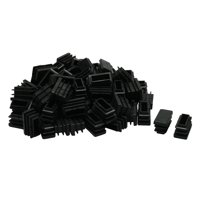 13 x 26mm Plastic Rectangle Ribbed Tube Inserts Furniture Glide Chair 100pcs