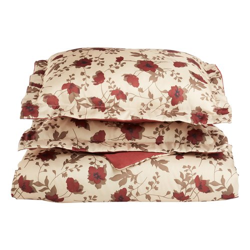 Simple Luxury Impressions Reversible Duvet Cover Set