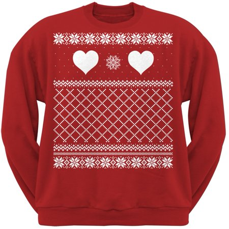 Valentine's Day - Heart Ugly Valentine Sweater Red Adult Sweatshirt