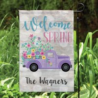 Spring Pickup Personalized Garden Flag