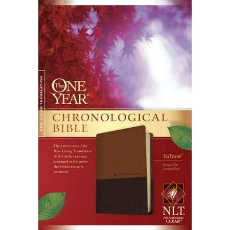 The One Year Chronological Bible NLT, TuTone (LeatherLike, Brown/Tan)](Bibles In Bulk)