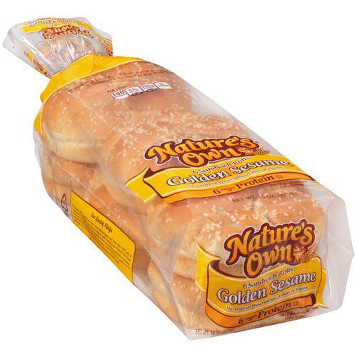 Nature's Own® Golden Sesame Sandwich Rolls 6 ct Pack