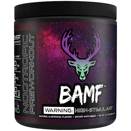 Bucked Up BAMF Nootropic Focus Pre Workout (Pump N Grind - 30 Servings) LIT