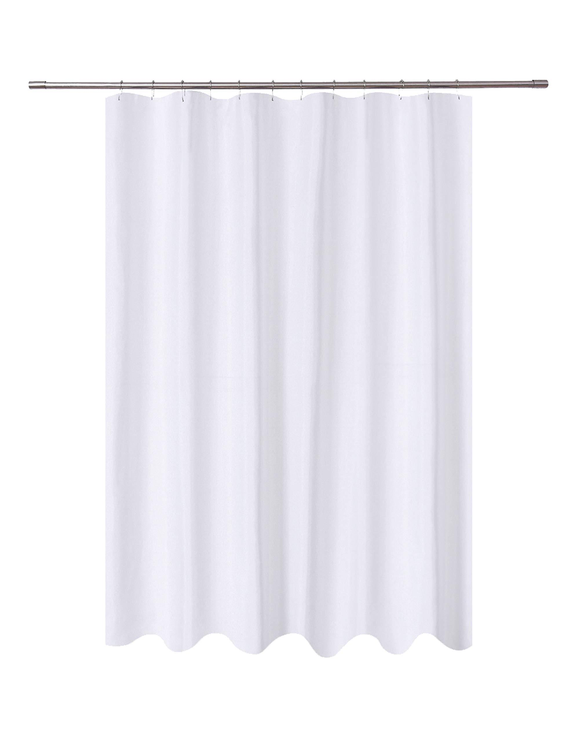 Semi Transparent Cobblestone Heavy Duty Extra Long Shower Curtain Liner 84 Inches Long Marble Bathroom Shower Curtain 72x84 Inch with 5 Magnets