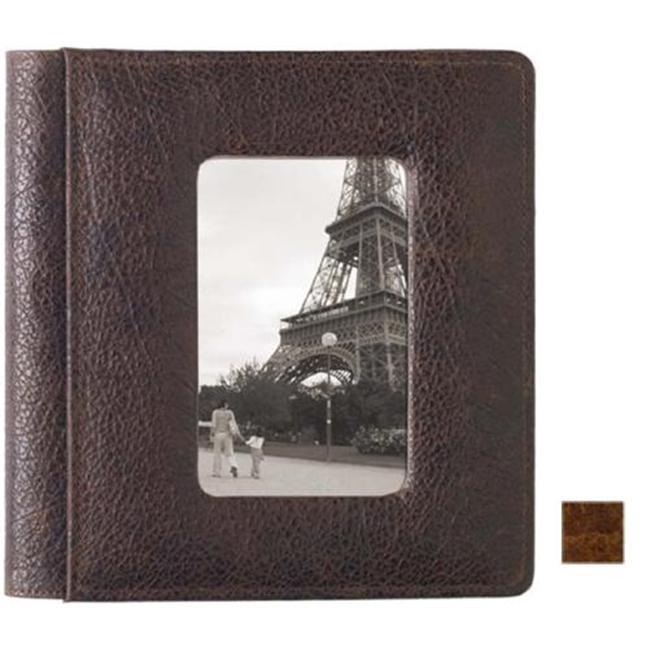Raika VI 170 COGNAC Framed-Front Scrapbook Album - Cognac