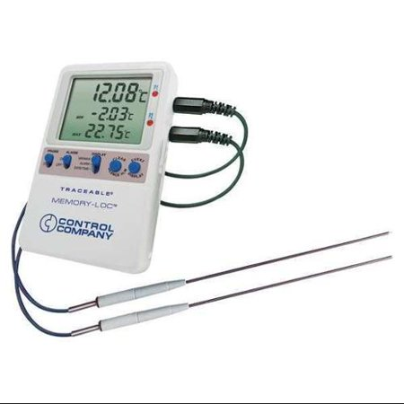 TRACEABLE 6446 Digital Data Logging Thermometer, Memory-Loc™ with (2)