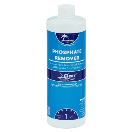 Rx Clear Swimming Pool Phosphate Chemical Remover Preventer 3 X 1 Quarts