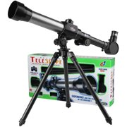Telescope for Kids Beginners Adult, 60 mm Astronomical Refractor Telescope with Adjustable Tripod