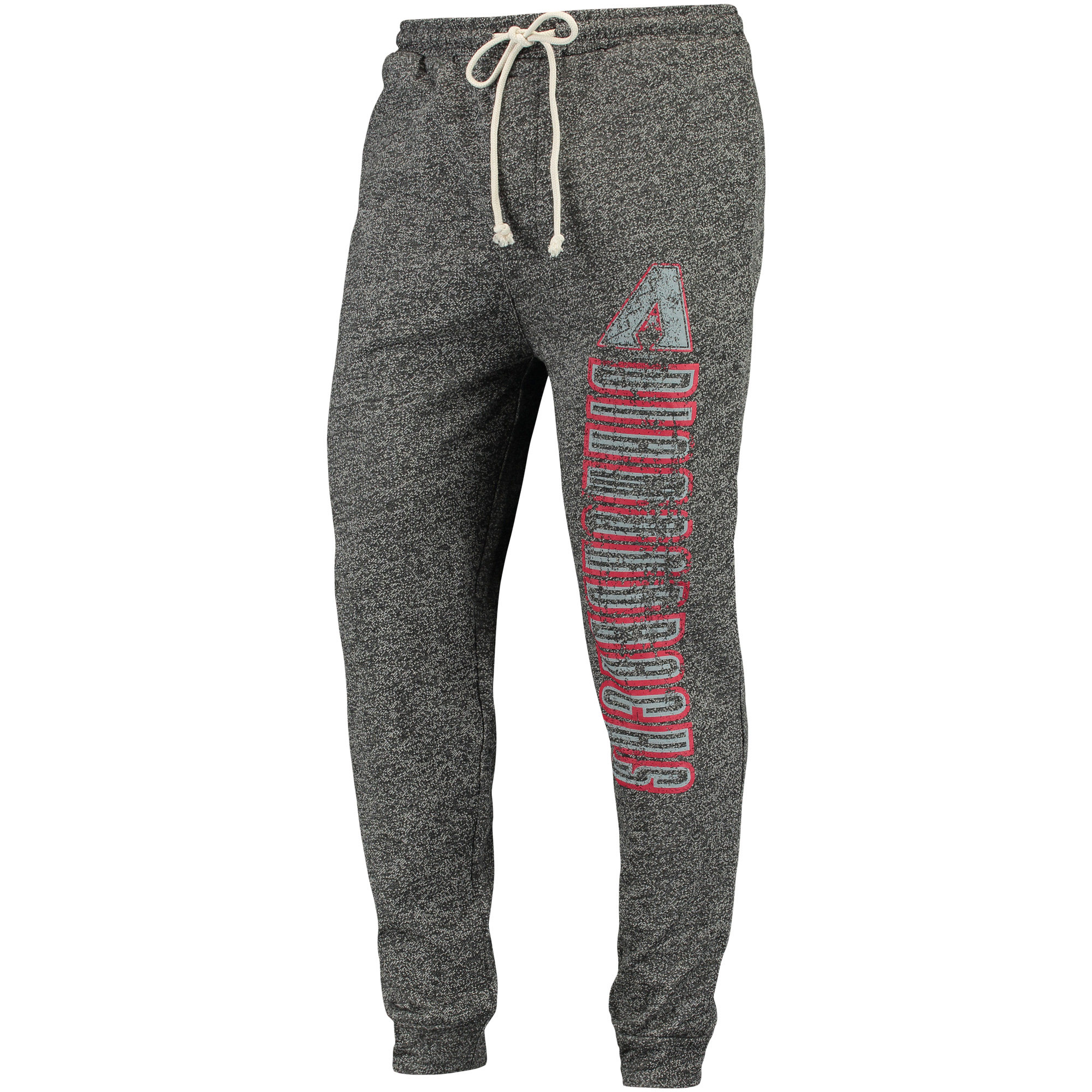Arizona Diamondbacks Concepts Sport Pinpoint French Terry Cuffed Pant - Charcoal