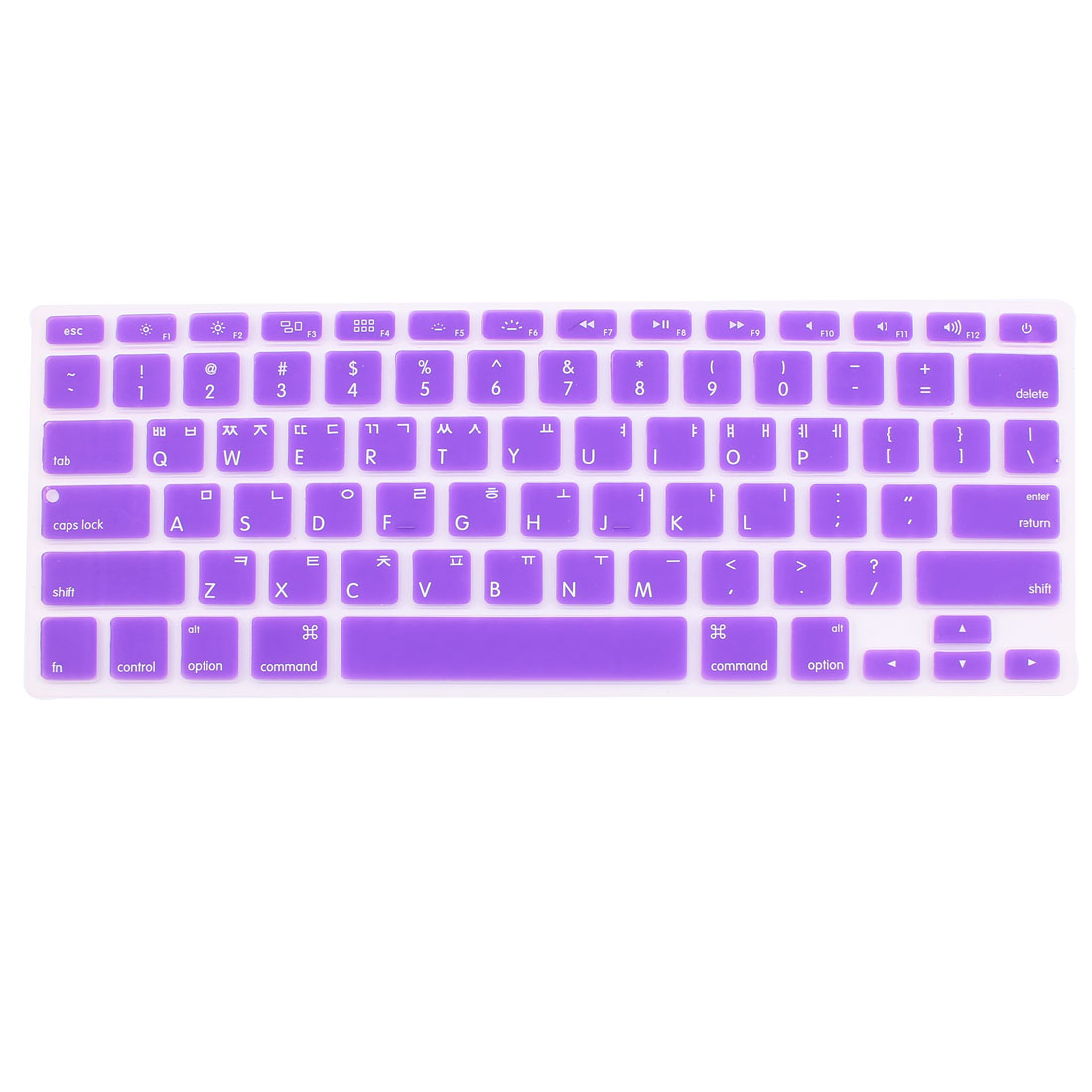 Korean Silicone Keyboard Skin Cover Purple for Apple Macbook Air 13 15 17