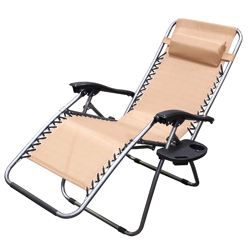 patio zero gravity chair folding lounge with cup holder outdoor yard beach tan