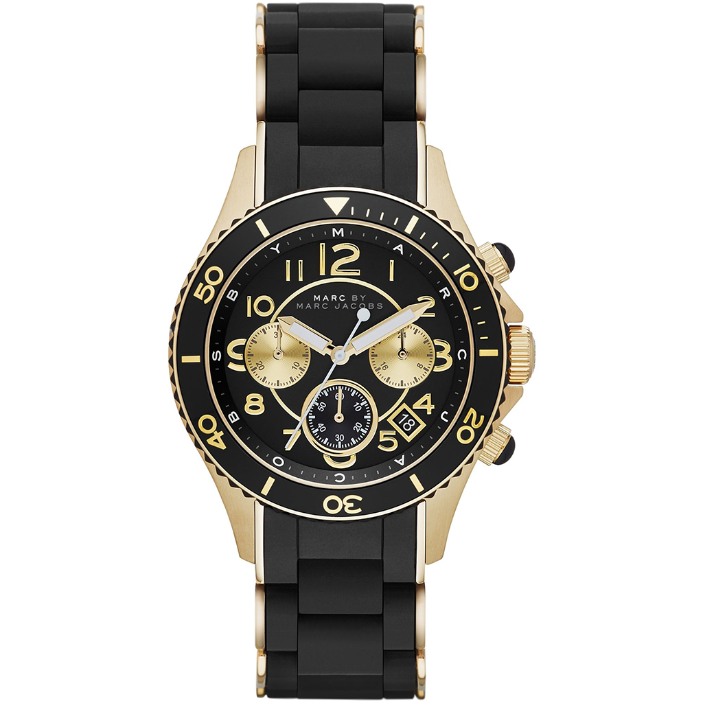 Marc Jacobs Unisex Black Rock Chronograph Watch MBM2598