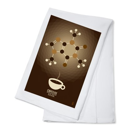 Caffeine - Chemical Elements - Lantern Press Artwork (100% Cotton Kitchen Towel)