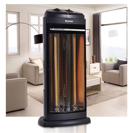 Costway Infrared Electric Quartz Heater Living Room Space Heating Radiant Fire (Gas Fired Infrared Heaters)