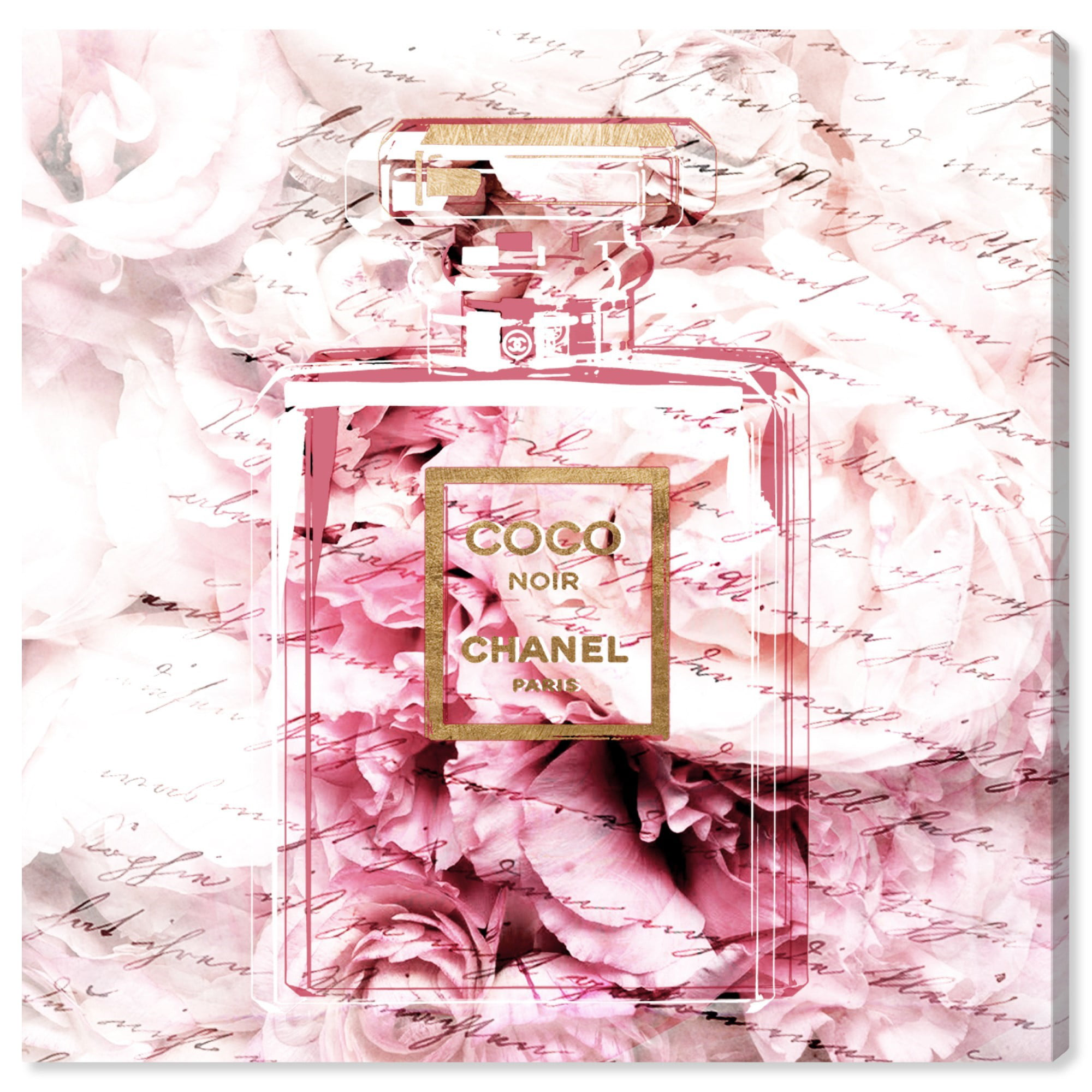 Runway Avenue Fashion And Glam Wall Art Canvas Prints Romantic French Perfume Perfumes Pink Gold Walmart Com Walmart Com