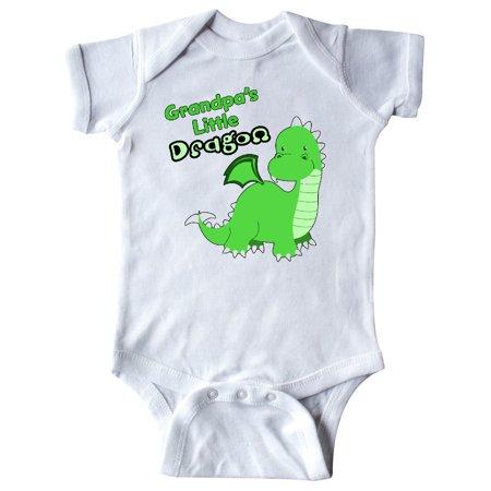 Grandpa's Little Dragon Infant Creeper (Baby Dragon Girl)