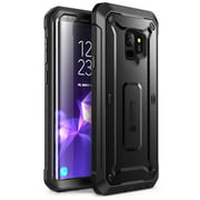 SUPCASE Galaxy S9 Case Full-body Rugged Holster Case WITH Screen Protector for 2018 Release, Unicorn Beetle PRO-Black