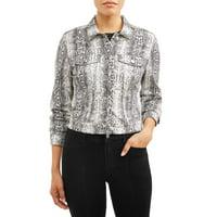 Sofia Jeans Marianella Python Print Denim Jacket Women's