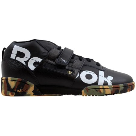 9532d35be773a Reebok - Reebok Workout Mid Strap 3AM Black White-Green New Orleans DV4593  Men s - Walmart.com