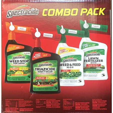 Spectracide Lawn Care Combo Pack, Ready-To-Spray Concentrate 4 Pack