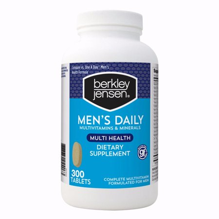 Berkley Jensen Men's Daily Multivitamin To Support Overall Health 300 ct. Daily Deals