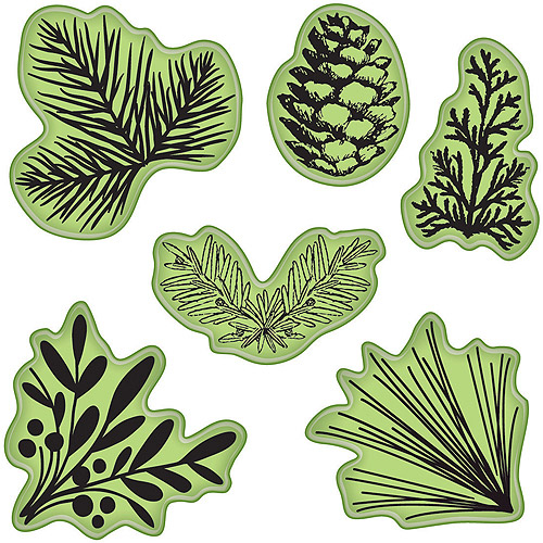 "Inkadinkado Stamping Gear, 4"" x 4"", Pinecones Evergreen"