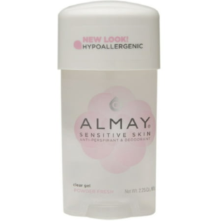 Almay Sensitive Skin Clear Gel Antiperspirant & Deodorant, Powder Fresh 2.25
