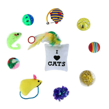 Weefy Toys Cat Lot Bulk Mice Balls Catnip Kitty Kitten Play Toy Treats Pet