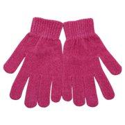 Women Fuchsia Super Soft Ribbed Cuffs Winter Gloves
