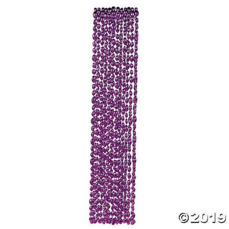 Football Beaded Necklaces - Purple](Football Bead Necklace)