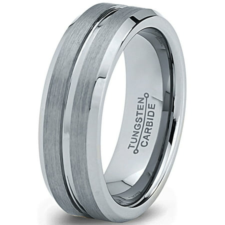 - Tungsten Wedding Band Ring 6mm for Men Women Comfort Fit Beveled Edge Polished Lifetime Guarantee