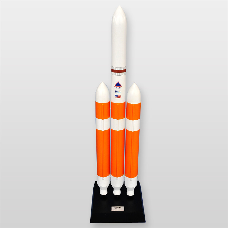 Delta IV Rocket (heavy) 1 100 Desktop Wood Model by
