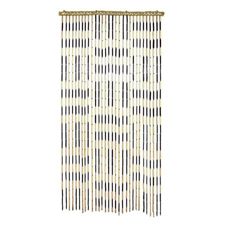 All Fun Gifts Bamboo Beaded Door Curtain-3ftx6ft Criss Cross (Custom Beaded Door Curtains)