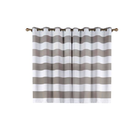 BalsaCircle 52 x 64-Inch Cabana Stripe Curtains Drapes Panels with Grommet Window Treatments - Home Decorations