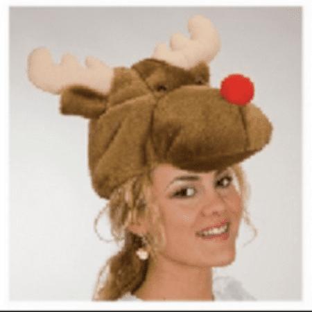 Plush Reindeer Hat Rudolph Red Nosed Christmas Xmas The Movie Santa