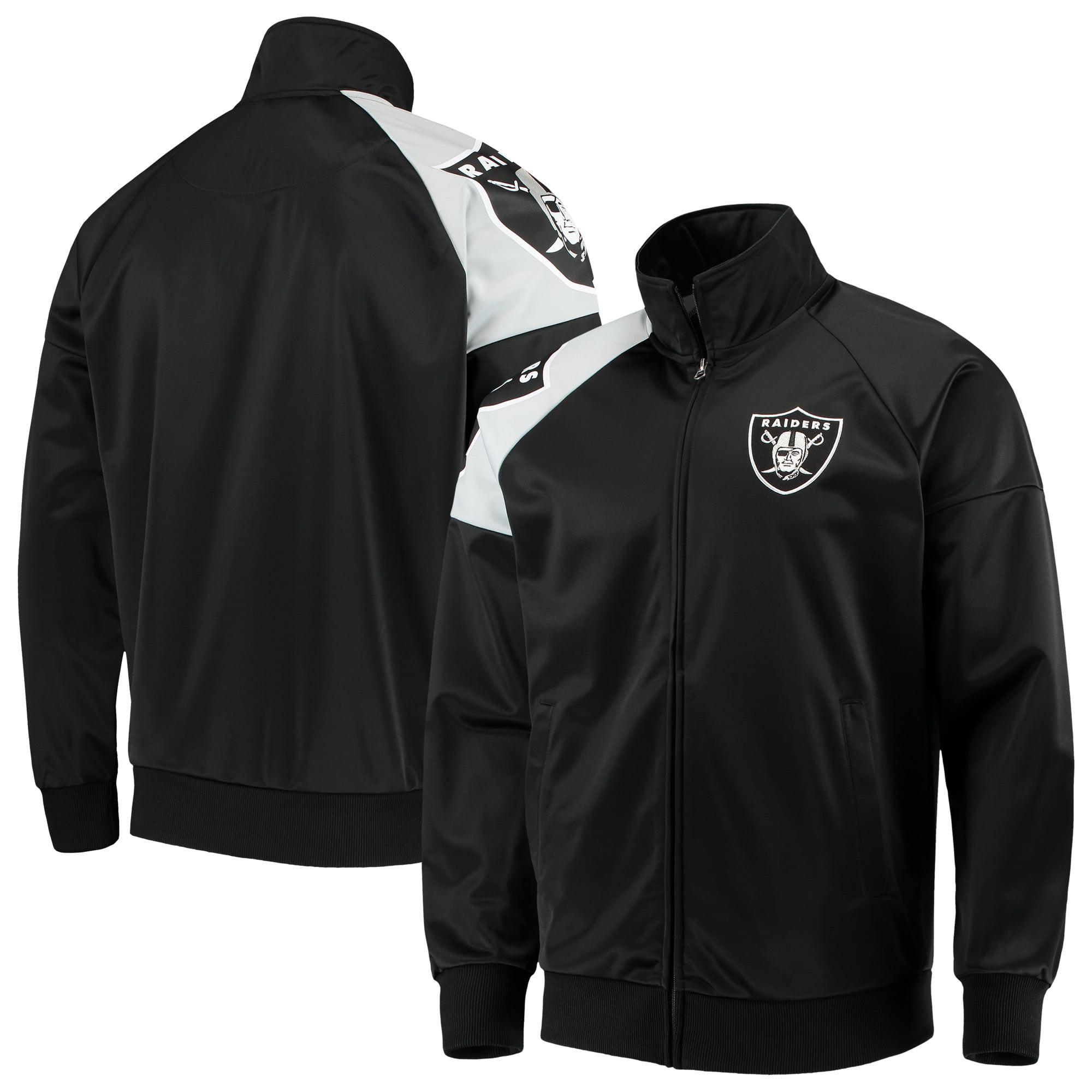 Oakland Raiders G-III Sports by Carl Banks Interception Full-Zip Track Jacket - Black