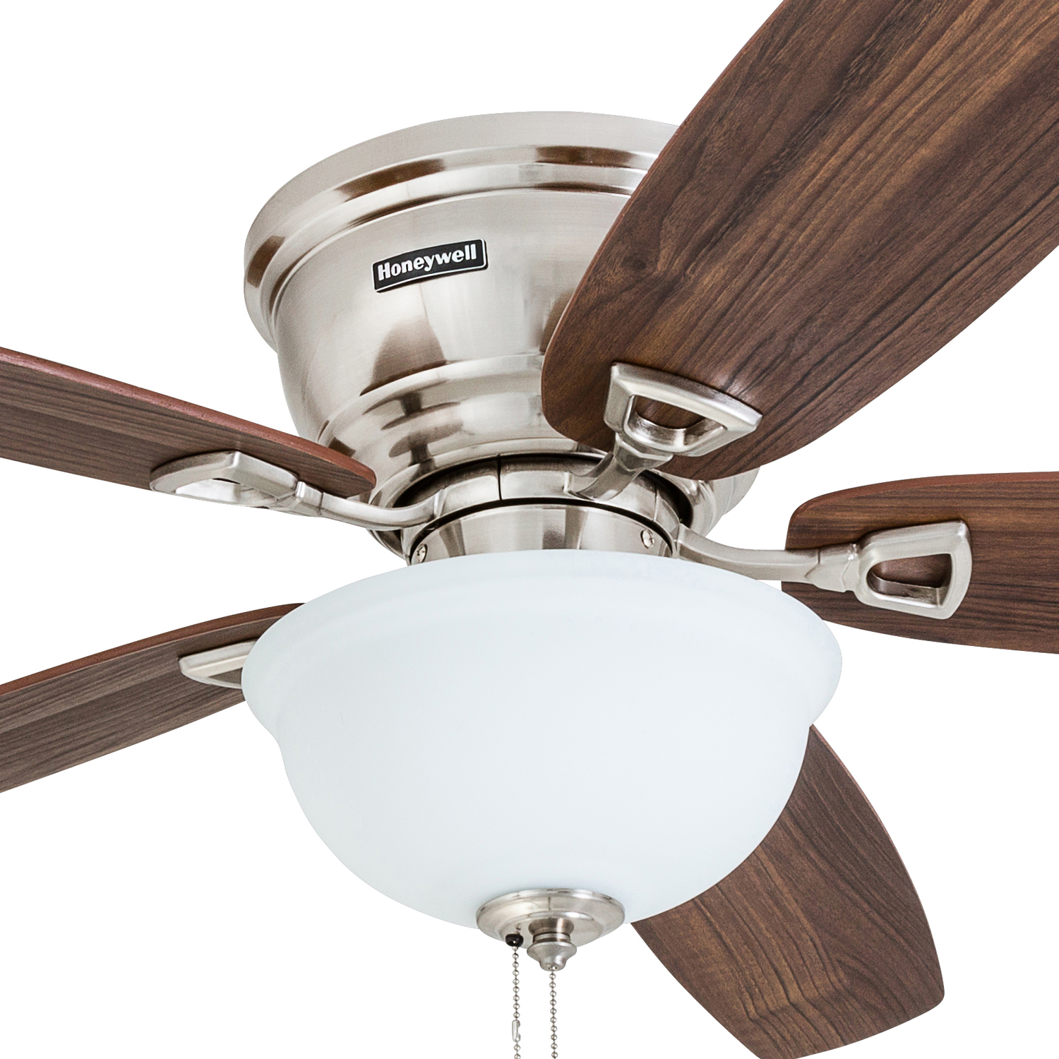 "52"" Honeywell Eastover Ceiling Fan Brushed Nickel Walmart"