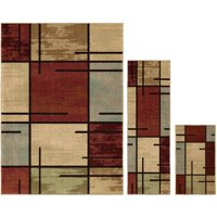 Better Homes and Gardens Spice Grid 3-Piece Area Rug Set