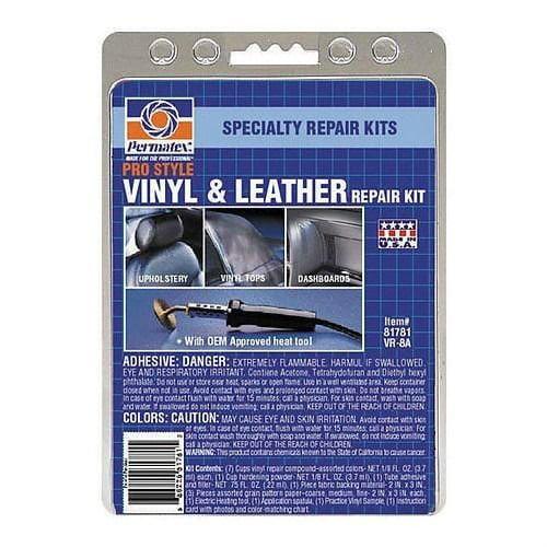 81781 Ultra Series Vinyl & Leather Repair Kit with Electr...