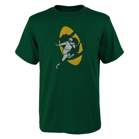 Green Bay Packers Youth Nfl   Distressed Vintage Logo   Short Sleeve T Shirt