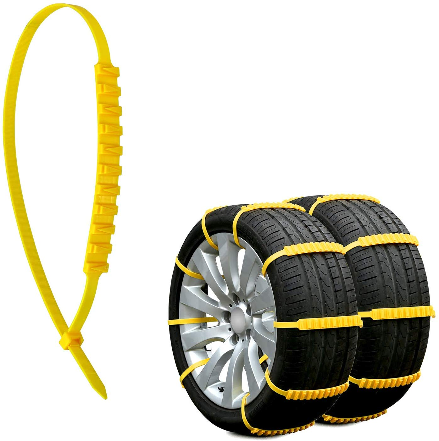 PTNHZ 10 PCS Snow Tire Chain Anti-Skid Emergency Winter Driving for Car Truck SUV