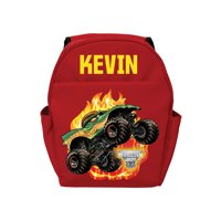 Personalized Monster Jam Dragon Red Youth Backpack