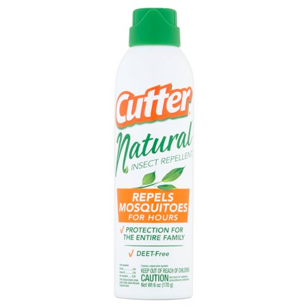 Cutter Natural Insect Repellent, DEET Free, 6-Ounces