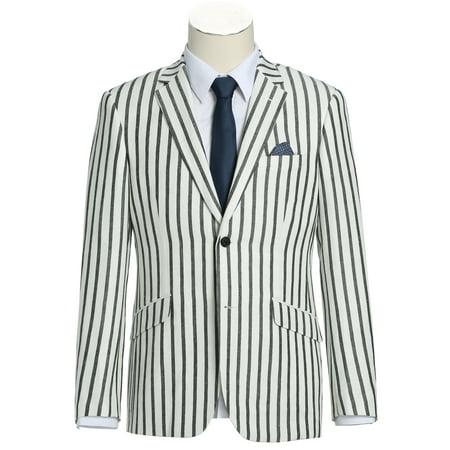 Men's Slim Fit Summer Blazer Linen-Blend Lightweight Sport Jacket Summer Riding Jacket