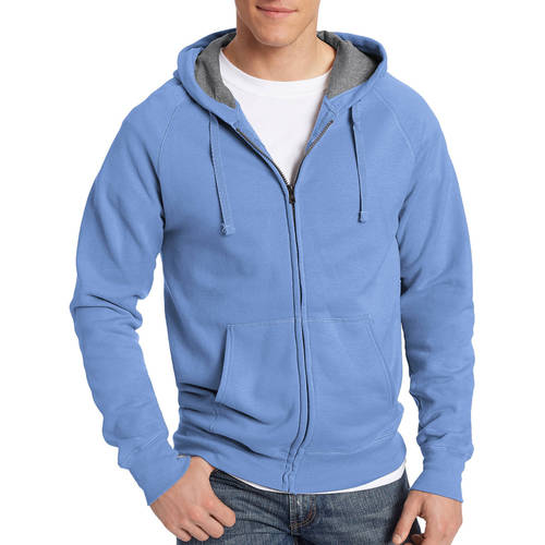Hanes Men's Nano Premium Soft Lightweight Fleece Full Zip Hood