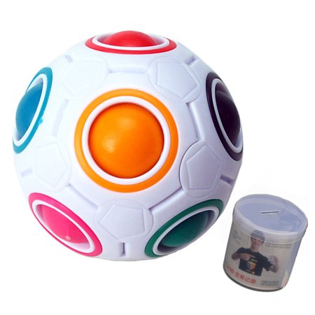 Novelty Design Children Kids Magical Spheric Ball Shaped Puzzle Toy Best Gifts Multi Color