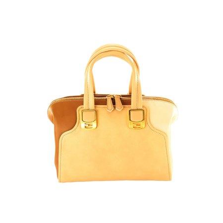 Fendi Chameleon Beige Leather Womens Shoulder Bag