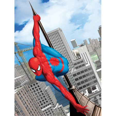 Man Art Poster (Spider-Man In the City Laminated Poster Wall)