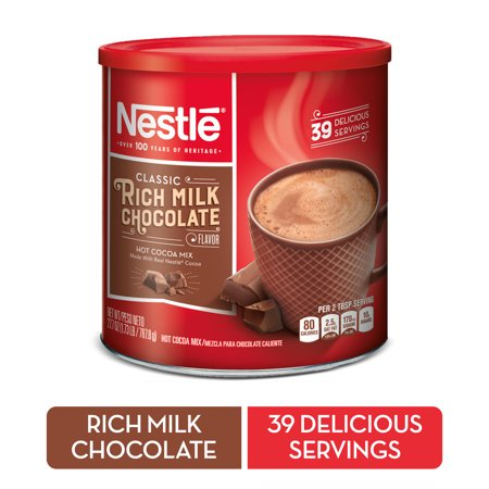 Nestle Rich Milk Chocolate Hot Cocoa Mix 27.7 oz. Canister Maple Hot Chocolate